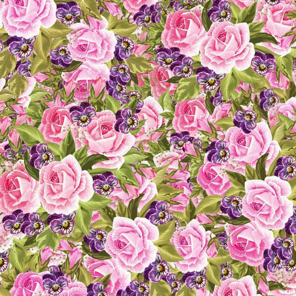 Pink and Lilac Flowers